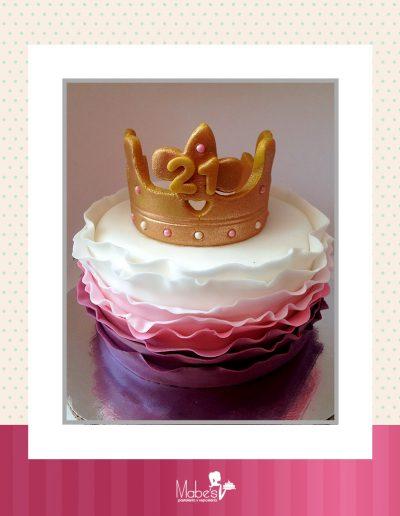 Cumpleaños 21 corona de princesa
